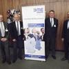 von links: M. Reuber (Salzgitter Flachstahl GmbH), H. Sander (Vorsitzender Region Braunschweig im BME e.V.), Dr. B. Meier (HGF IHK Braunschweig), O. Burgdorf (Telekom Deutschland GmbH)